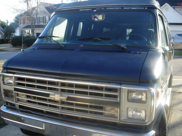 1989 chevy g20 conversion van for sale in apex north. Black Bedroom Furniture Sets. Home Design Ideas
