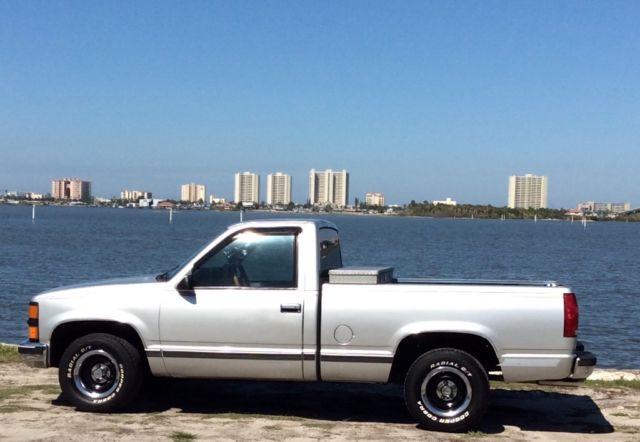 1989 Chevy Silverado Truck Silver For Sale Photos