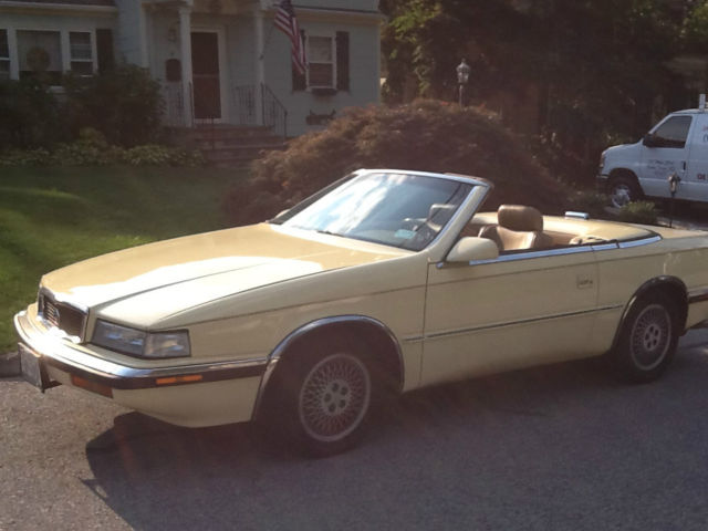 1989 Chrysler Maserati Tc 984th Of 7000 Ever Made For