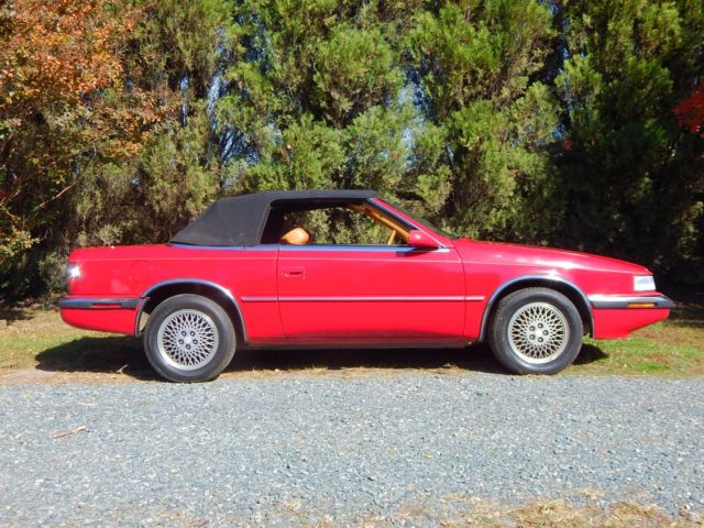 1989 chrysler tc by maserati 2 seat convertible. Cars Review. Best American Auto & Cars Review