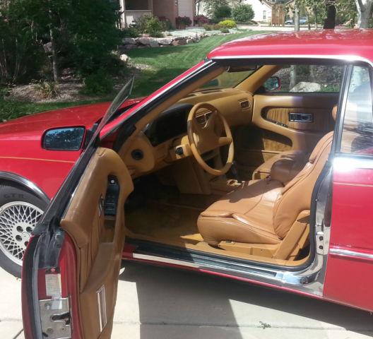1989 Chrysler TC By Maserati Red Convertible Sports Car