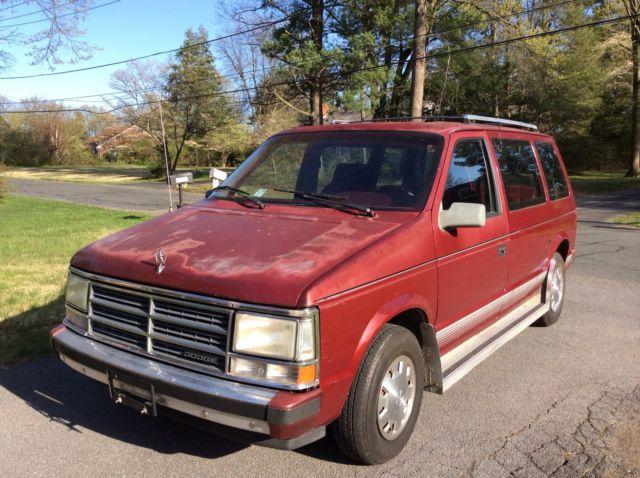1989 Dodge Caravan Only 55 K One Owner No Reserve Sale