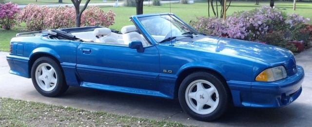 1989 Ford Mustang Gt Convertible 5 0 Fox Body Foxbody