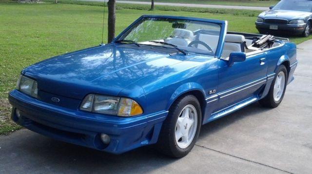 1989 Mustang Gt Blue