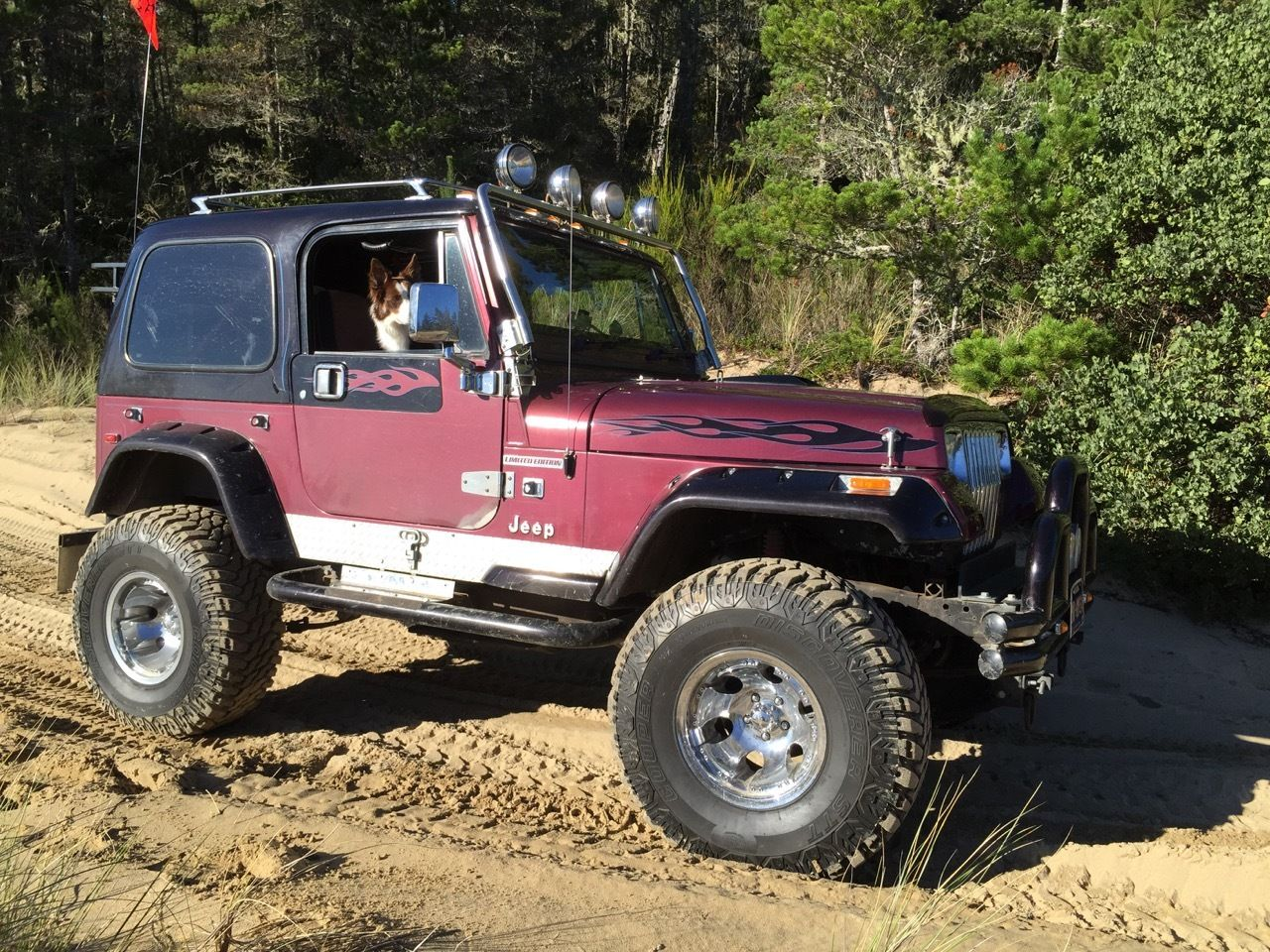 1989 jeep wrangler base sport utility 2 door 4 2l yj lifted video for sale in summerville. Black Bedroom Furniture Sets. Home Design Ideas