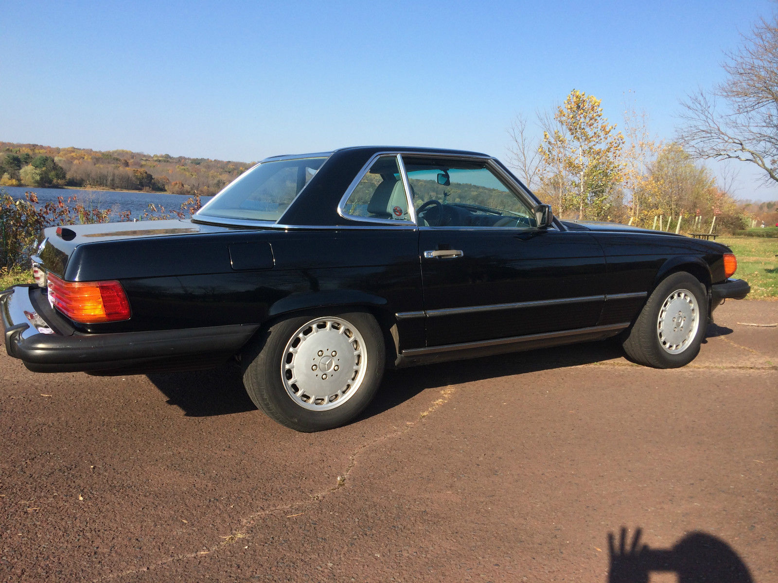 1989 mercedes benz 560 sl black super clean with hard top for Mercedes benz doylestown pa