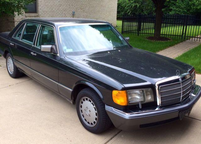 1989 mercedes benz 560sel 4door sedan sun roof v8 pearl for Mercedes benz v8 sedan