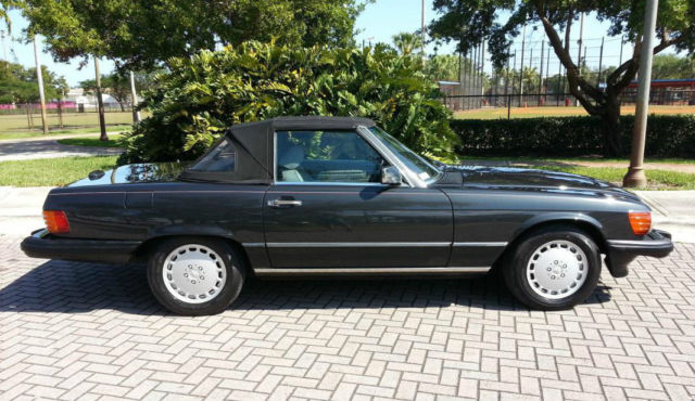 1989 mercedes benz 560sl black pearl mettalic over grey for Mercedes benz performance chips
