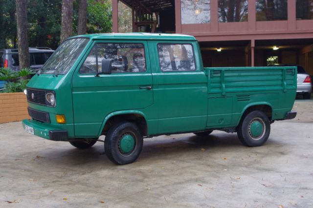 1989 vw vanagon crew double cab doka truck turbo diesel lhd low miles for sale in rincon. Black Bedroom Furniture Sets. Home Design Ideas