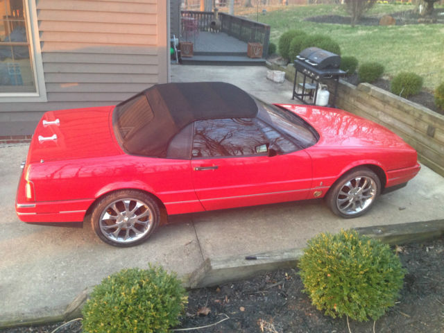 1990 CADILLAC ALLANTE SOFT TOP CONV VERY NICE RED CHROME WHEELS