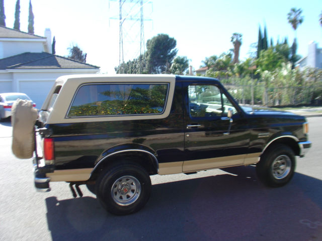 1990 ford bronco black eddie bauer 110k miles 1991 1989 1988 1987 1992 1993 1994. Black Bedroom Furniture Sets. Home Design Ideas