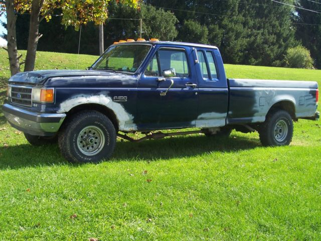 Ford F250 8 Foot Bed For Sale >> 1990 Ford F-150 XLT Lariat Extended Cab Navy Blue Great ...
