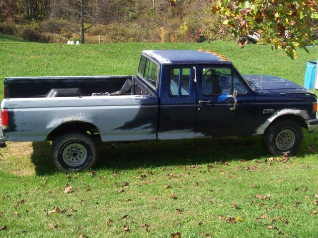 1990 Ford F-150 XLT Lariat Extended Cab Navy Blue Great ...