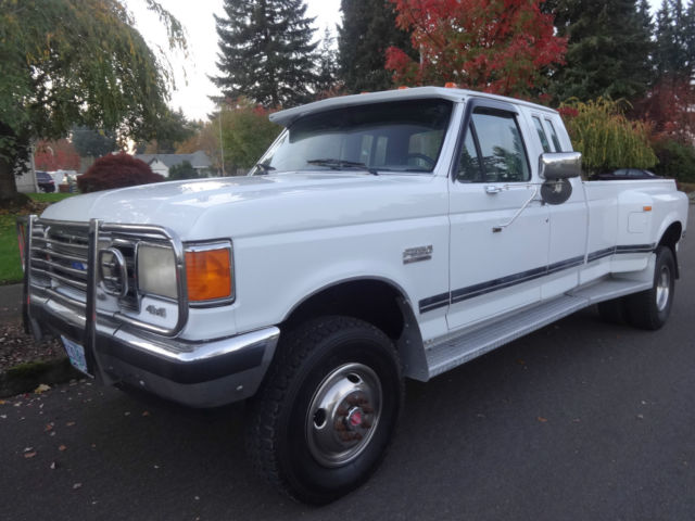 1990 ford f 250 xlt lariat 4x4 extended cab dually for sale in vancouver washington united states. Black Bedroom Furniture Sets. Home Design Ideas