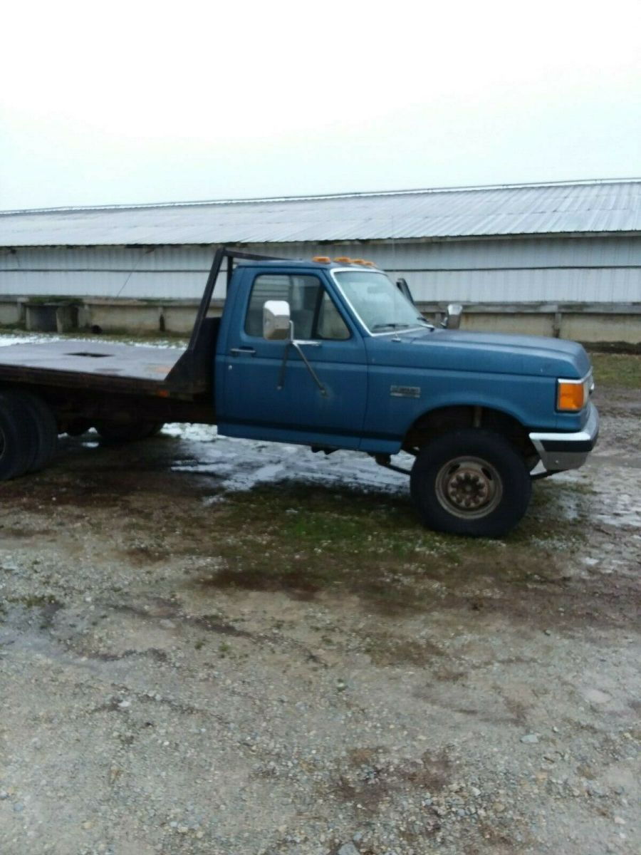 1990 Ford F Super Duty Lariat Dually Truck Solid 10 Foot Flatbed Diesel Oneowner For Sale Photos Technical Specifications Description