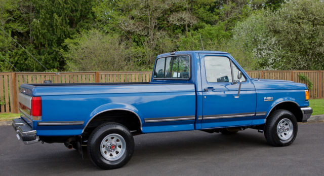 1990 Ford F150 Lariat Xlt Regular Cab 4x4 8 Foot Long Bed With Only
