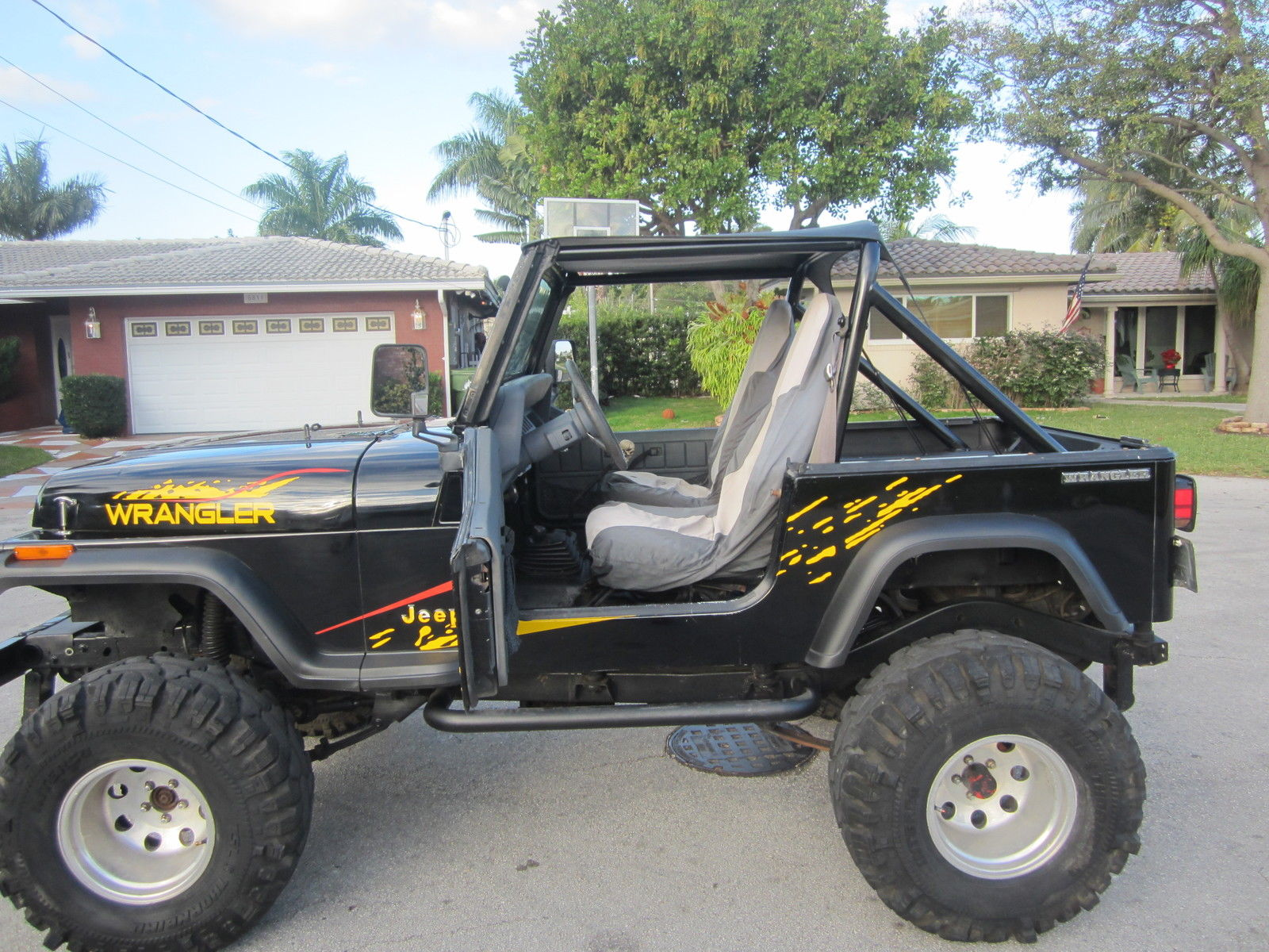 1990 jeep wrangler 4x4 lifted clean florida jeep 00 obo 954 937 8271 for sale in fort lauderdale. Black Bedroom Furniture Sets. Home Design Ideas