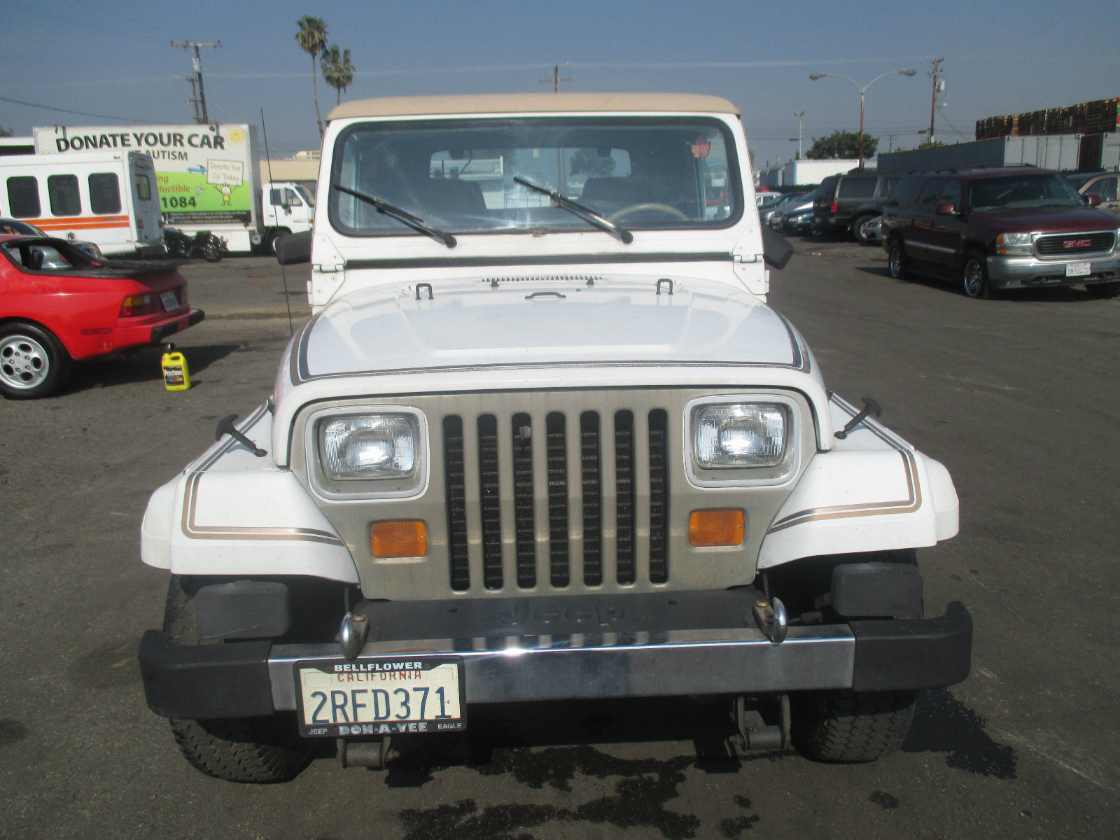 1990 jeep wrangler laredo sport utility 2 door 4 2l no reserve for sale in anaheim california. Black Bedroom Furniture Sets. Home Design Ideas