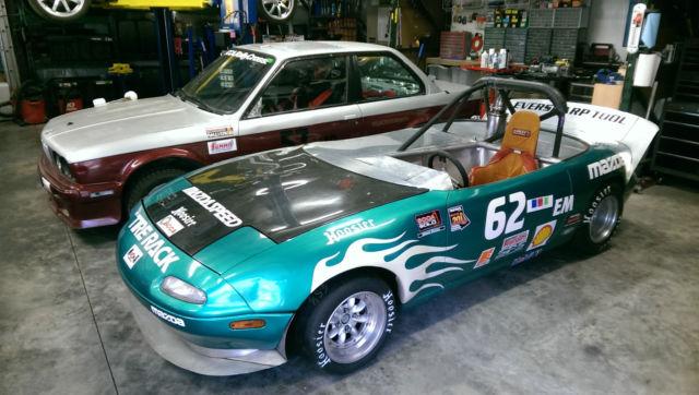 1990 Mazda Miata 20B 3-Rotor Racecar w/ Enclosed Trailer for