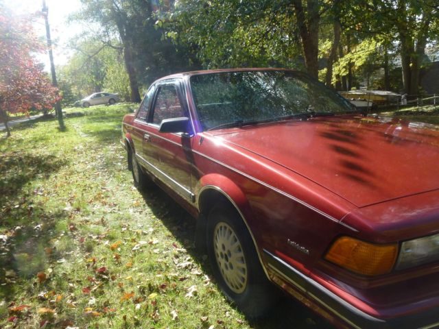 1990 Rare Buick Century Custom 2 Door Coupe Clean Very Good Shape
