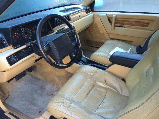 1990 volvo 780 bertone coupe black w tan interior for sale in portland maine united states. Black Bedroom Furniture Sets. Home Design Ideas