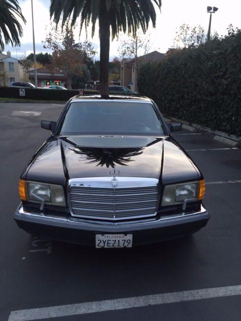 1991 560sel mercedes w126 black on black 170k miles for sale in menlo park california united. Black Bedroom Furniture Sets. Home Design Ideas