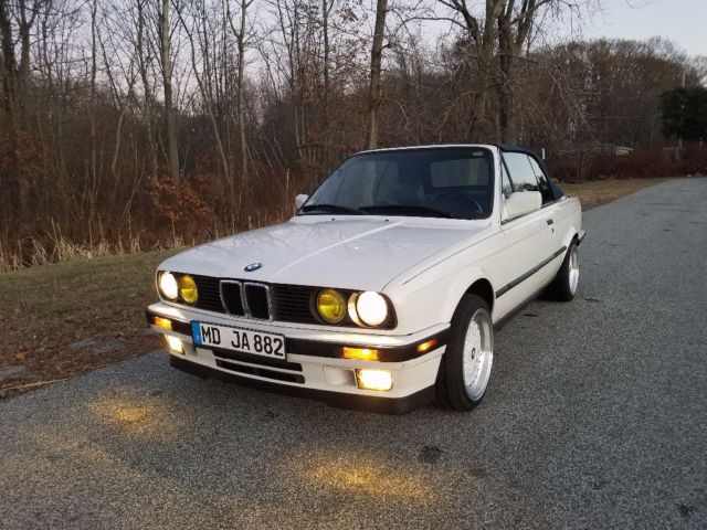 1991 bmw 325i convertible e30 very clean low miles drive it home no reserve. Black Bedroom Furniture Sets. Home Design Ideas