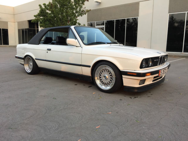 1991 bmw e30 325i hard top convertible california rust free for sale in fairfield california. Black Bedroom Furniture Sets. Home Design Ideas
