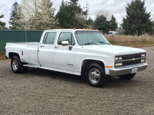 1991 chevrolet silverado hd 3500 1 ton crewcab 3 3 dually like new 31k low miles for sale in. Black Bedroom Furniture Sets. Home Design Ideas