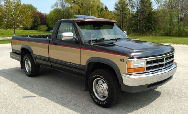 1991 dodge dakota 4x4 5 2 magnum v 8 only 89k rust free clean no res for sale photos technical specifications description classiccardb com