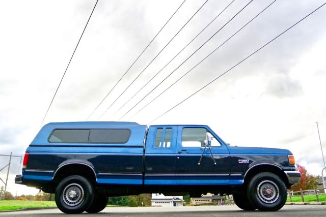 1991 Ford F-250 XLT HD Super Cab 8' Bed 4X4 460 V-8 Gas ...