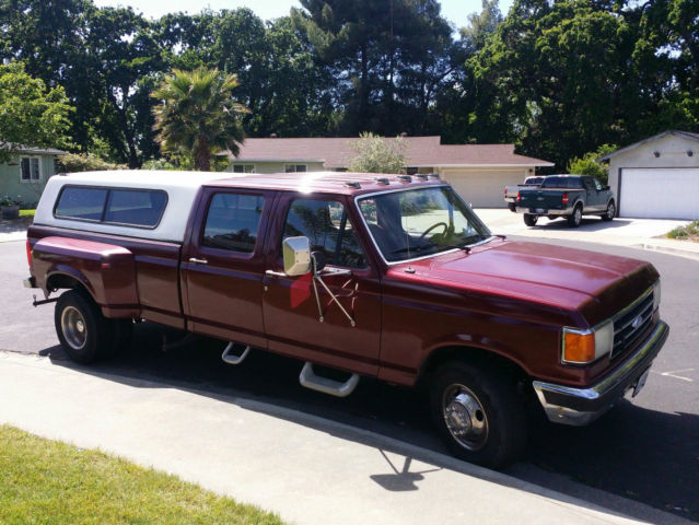 Ford F Dually Crewcab Diesel No Reserve on 1990 Ford F 350 Dually