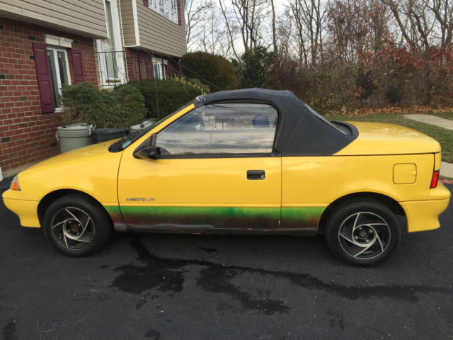 1991 geo metro convertible only 56k miles no reserve for sale in east meadow new york. Black Bedroom Furniture Sets. Home Design Ideas