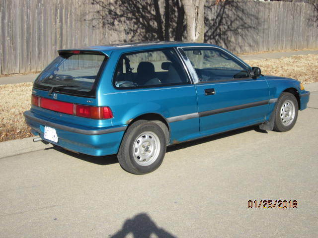 1991 honda civic tahitian green pearl hatchback manual one owner. Black Bedroom Furniture Sets. Home Design Ideas