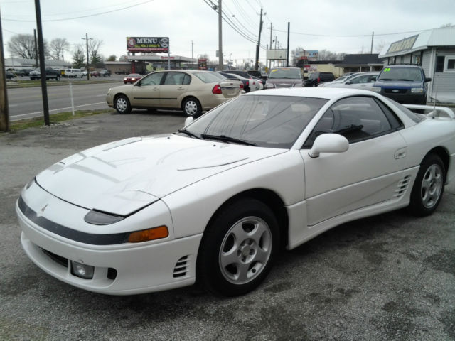 1991 mitsubishi 3000 gt 5 speed manual 2 door coupe white. Black Bedroom Furniture Sets. Home Design Ideas