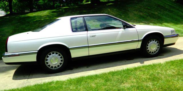 1992 cadillac eldorado touring coupe white diamond 28 000 original miles 2nd ow for sale photos technical specifications description classiccardb com