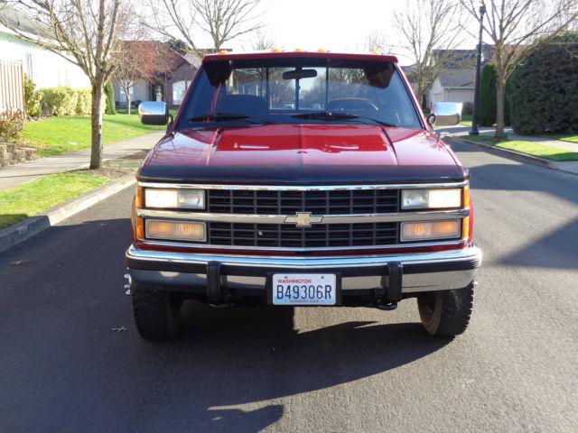 1992 Chevrolet K3500 4x4 Dually Low Miles  1993 1994 1995