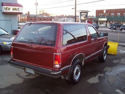 1992 Chevrolet S10 Blazer Base Sport Utility 2 Door 4 3l For Sale Photos Technical Specifications Description