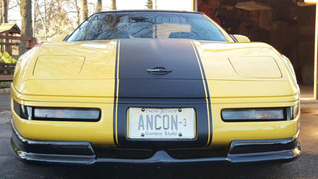 1992 CORVETTE ONE OF A KIND GREENWOOD PACKAGE  LT1 C4 YELLOW  BLACK