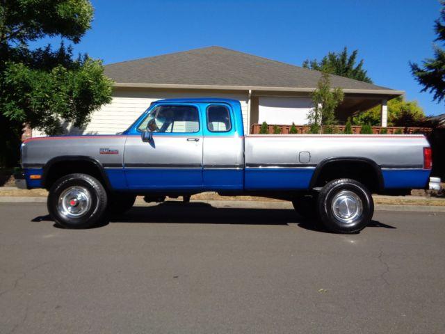 Dodge Ram D W X Cummins Diesel Low Miles on 1989 Dodge Ram Truck 4x4