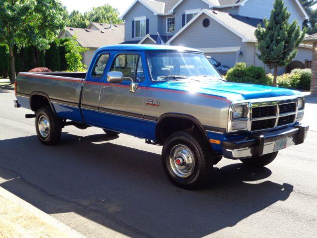 1992 dodge ram d250 2500 w250 4x4 cummins diesel low miles Manual Shift Truck 8 Speed Manual Transmission Car