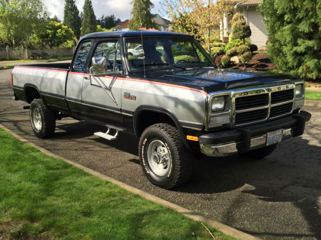 1992 dodge ram le w250 4x4 club cab 5 9l cummins turbo diesel first gen 71k mile for sale in. Black Bedroom Furniture Sets. Home Design Ideas