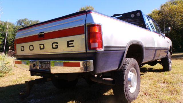 1992 DODGE W250 LE CUMMINS TURBO DIESEL, ONLY 86K ORIGINAL MILES. TEXAS TRUCK! for sale: photos ...
