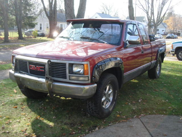 1992 gmc sierra s1500 pickup truck 4x4 new everything escalade wheels clean for sale photos technical specifications description classiccardb com