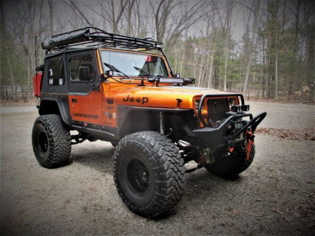 1992 Jeep Wrangler Radiance Candy Orange Glow V8 Sbc Custom Offroad For Sale Photos Technical Specifications Description