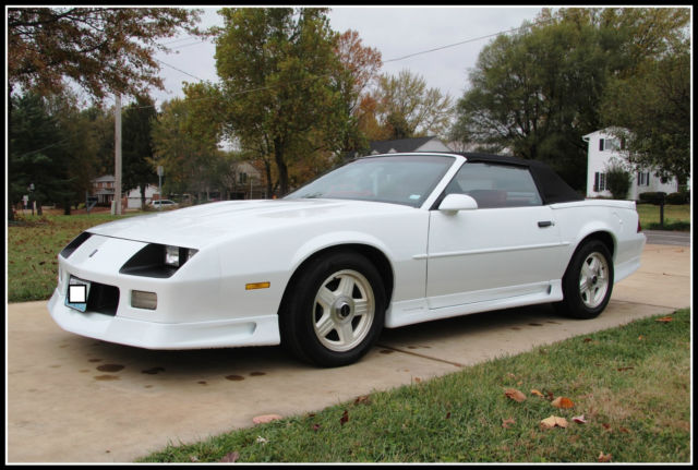 1992 Z28 Camaro Convertible 1 Of 1254 Built All Restored