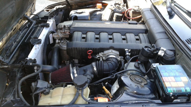 1993 Bmw 325i E30 Black On Black Convertible M50 Engine 5 Speed Smog Legal Swap For Sale In Half