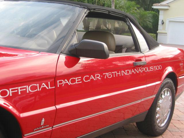 Cadillac Allante Indy Pace Car Graphics Convertible on 1993 Cadillac Allante