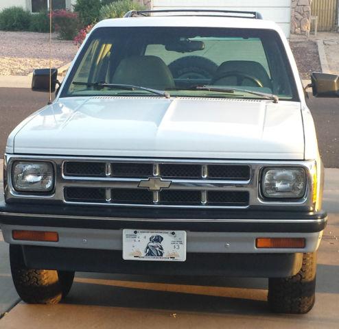 1993 Chevrolet S10 Blazer Tahoe Lt Sport Utility 4 Door 4