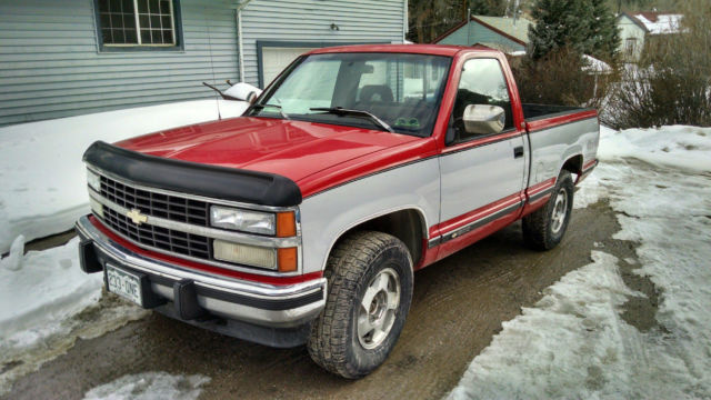 1993 chevrolet silverado 1500 truck pickup short bed regular cab 4x4 for sale in silver plume. Black Bedroom Furniture Sets. Home Design Ideas